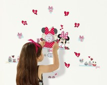 Stickers Horloge Minnie Mouse
