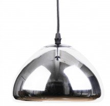 Lampe suspension métal argent Vlad inspiré Tom Doyle D 18 cm
