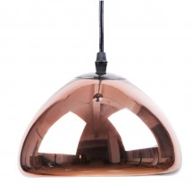 Lampe suspension métal bronze Vlad inspiré Tom Doyle D 18 cm