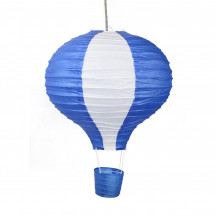 Suspension Papier Montgolfiere enfant bleu