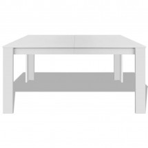 Table à manger rectangulaire bois blanc Dimer 140 cm