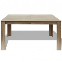 Table à manger rectangulaire bois naturel Dimer 140 cm