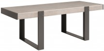 Table à manger rectangulaire gris loft et gris ombre Harvey