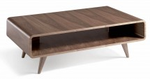 Table basse 1 niche bois noyer Koza