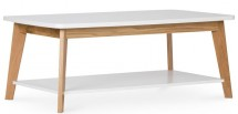 Table basse naturel et blanc scandinave kine