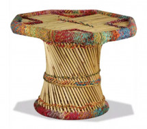 Table basse octogonale bambou clair Indika