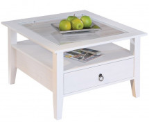 Table basse pin massif blanc Prince