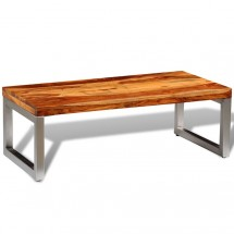 Table basse rectangulaire bois massif de Sesham Bouka