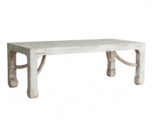 Table basse rectangulaire pin massif recyclé blanc vieilli Ivy