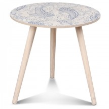 Table basse scandinave en bois bleu Vick Tatoo