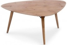 Table basse scandinave triangulaire chêne Janette