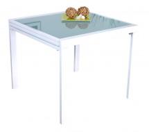 Table carrée extensible blanche laquée 90-180 cm bf61282d62a4