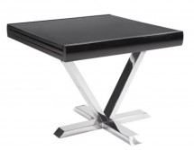 Table carrée extensible noir Selena 90-180 cm