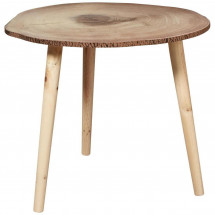 Table d'appoint bois massif clair Noomy