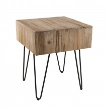 Table d'appoint carrée Teck naturel Kady