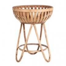 Table d'appoint corbeille bambou clair Kafto