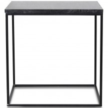 Table d'appoint en marbre noir Square