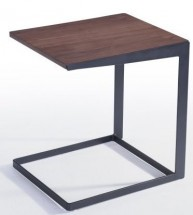 Table d'appoint bois massif marron Kapa