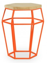 Table d'appoint originale orange Arraigné