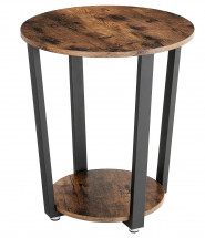 Table d'appoint ronde industriel Kaza 50 cm