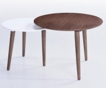 Table d'appoint marron et blanc Kapa