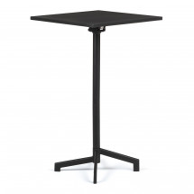 Table de bar carrée réglable acier noir mate Snook 60 cm