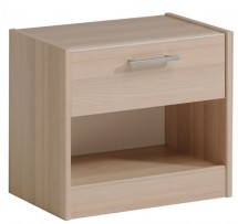 Table de chevet 1 tiroir 1 niche acacia clair Marly