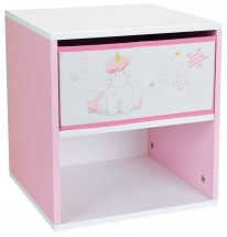 Table de chevet 1 tiroir 1 niche Licorne