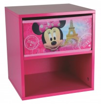 Table de chevet 1 tiroir 1 niche Minnie Paris Disney