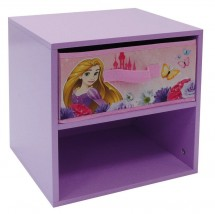 Table de chevet 1 tiroir 1 niche Princesses Disney