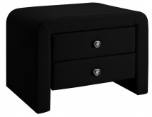 Table de chevet moderne simili noir Dina