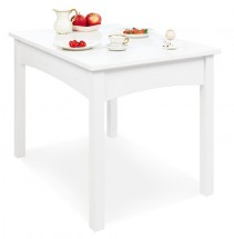 Table enfant pin massif lasuré blanc Martha