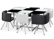 b8efb7a6312f7c Ensemble table et chaises noir   LesTendances.fr