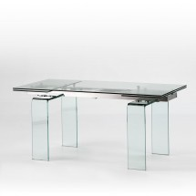 Table extensible rectangulaire verre trempé Angela