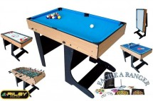Table multi jeux 21 en 1 pliable bois Riley