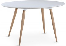 Table ovale scandinave blanc Sicah
