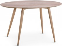 Table ovale scandinave chêne naturel Sicah
