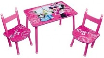 Table rectangulaire et 2 chaises Minnie Paris Disney