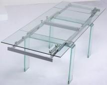 Table rectangulaire extensible verre trempé transparent Angel 200 ... 1d8fd258e1a2