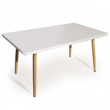 Table rectangulaire Blanc Boisa