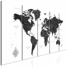 Tableau Black and White Map (5 Parts) Narrow