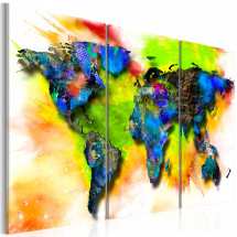 Tableau Painted continents