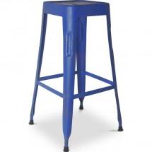 tabouret de bar industriel bleu