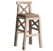 Tabouret de bar bois tropical clair Nothi