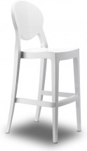 Tabouret polycarbonate blanc Igloo 74 cm- Lot de 2