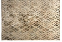 Tapis colonial en viscose sable Cleo