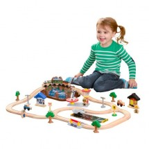 Train en bois enfant Bucket Construction Kidkraft 17805