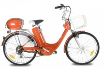 Vélo électrique de ville 250W E-Go City orange