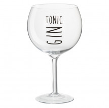 Verre à pied gin tonic transparent et noir Bothar - Lot de 12