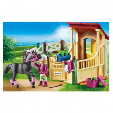 PLAYMOBIL 6934 - Country - Box avec Cavaliere et Cheval Pur-Sang Arabe - Photo 3